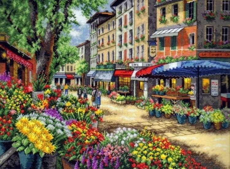 GX7090 Улица цветочных лавок