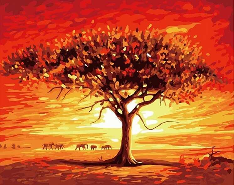 GХ7093 Дерево в саванне