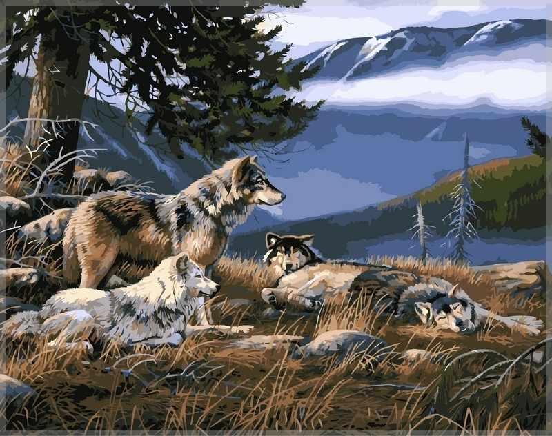 GХ7155 Волки на привале