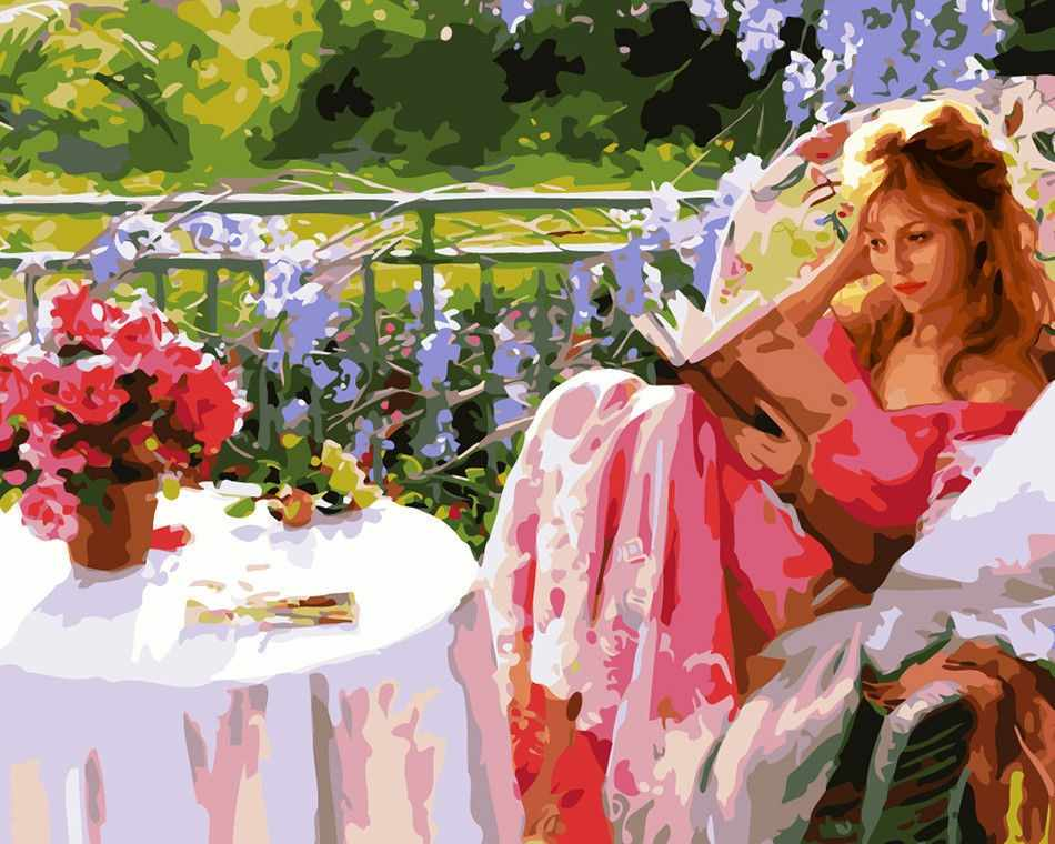 GХ7195 Девушка читает книгу
