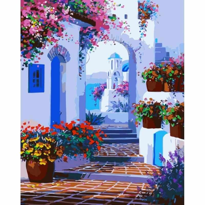 GX7213 Белая арка и цветы