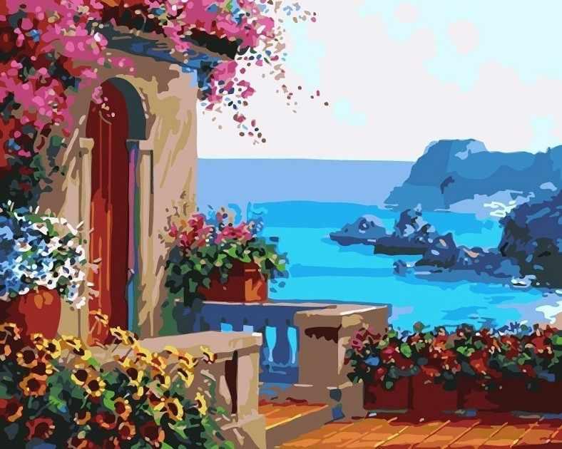 GХ7214 Вид с террасы на море