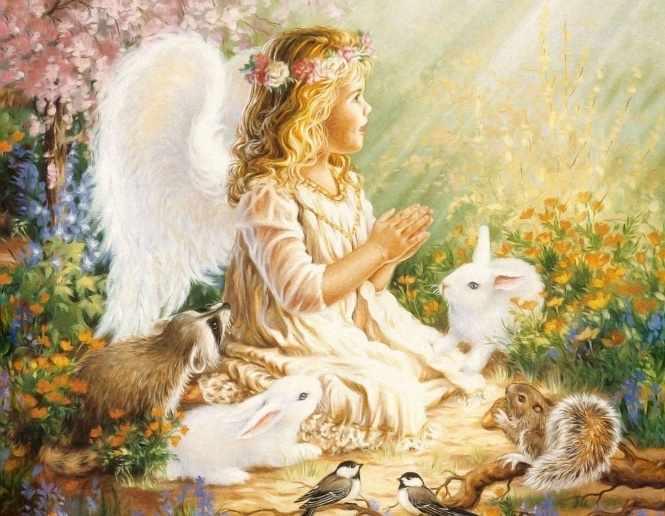 GХ7275 Ангел и кролики
