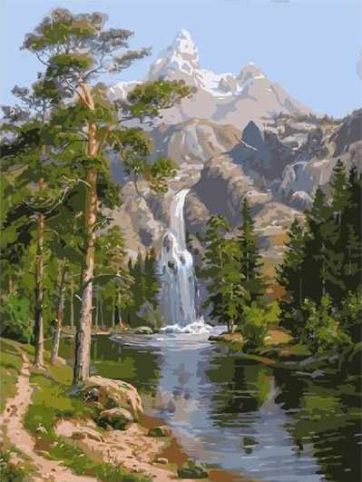 GX7364 Горный водопад