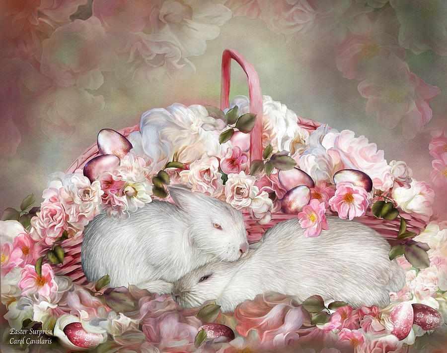 GX7613 Два кролика в розах