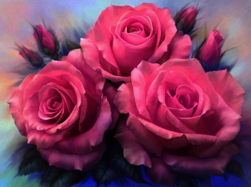 GХ7903 Розовые розы