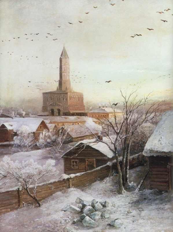 GХ8174 Зима в маленьком городе