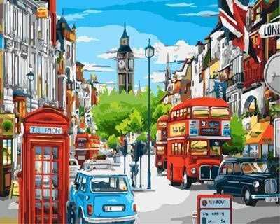 """GХ8969 """"Лондонская улица в ярких красках"""""""
