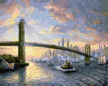 """GX8972 """"Мост на фоне города"""""""