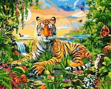 """GХ8973 """"Тигр в ярких красках"""""""