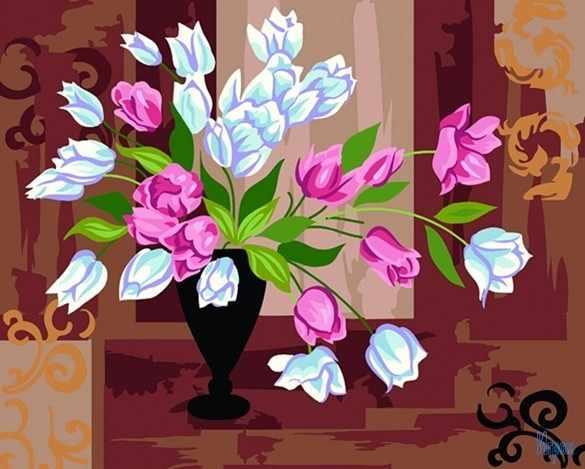 """GX6300 """"Белые и розовые тюльпаны"""""""
