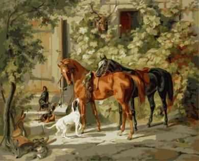 """GX8647 """"Два коня и три собаки"""""""
