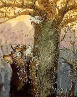 """GX8789 """"Кот и ангел на дереве"""""""