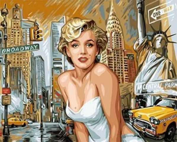 """GX8882 """"Мерилин Монро на фоне Нью-Йорка"""""""