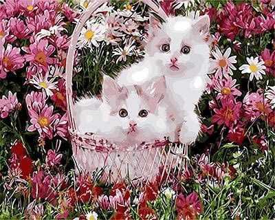 "GX9160 ""Два розовых котенка в корзинке"""