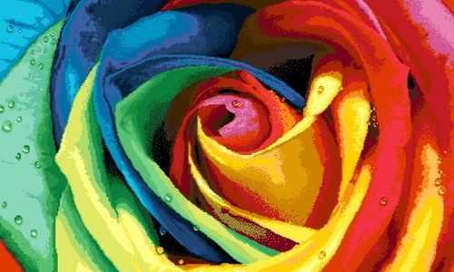 H0057 Роза - мозаика Милато