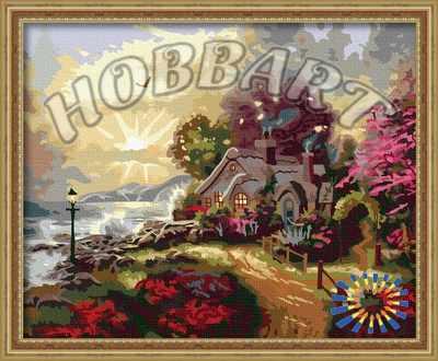 HB4050090 Рассвет у моря - раскраска (Hobbart)