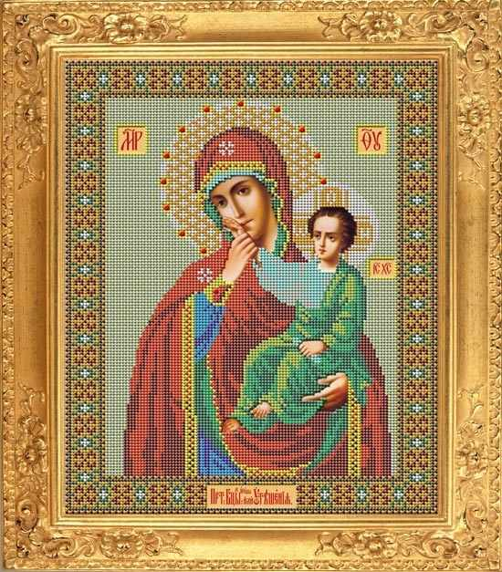 "И 024 Икона Божией Матери ""Отрада или утешение"" - набор (Galla Collection)"
