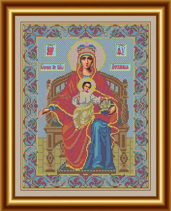 """И 031 Икона Божией Матери """"Державная"""" - набор (Galla Collection)"""