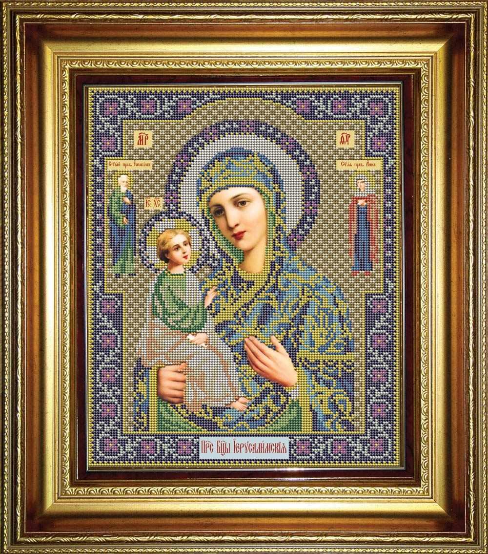 """И 042 Икона Божией Матери """"Иерусалимская"""" - набор (Galla Collection)"""