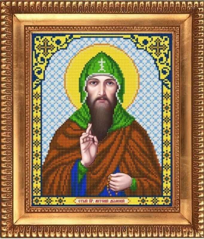 """И-4120  """"Св.Преподобный Антоний"""" - рисунок на ткани"""
