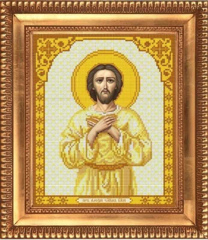 """И-4191 """"Преподобный Алексей Человек Божий"""" - рисунок на ткани"""