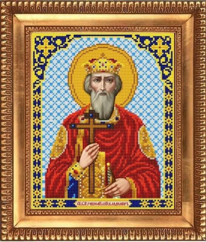 """И-4204  """"Святой Великий Князь Владимир"""" - рисунок на ткани"""