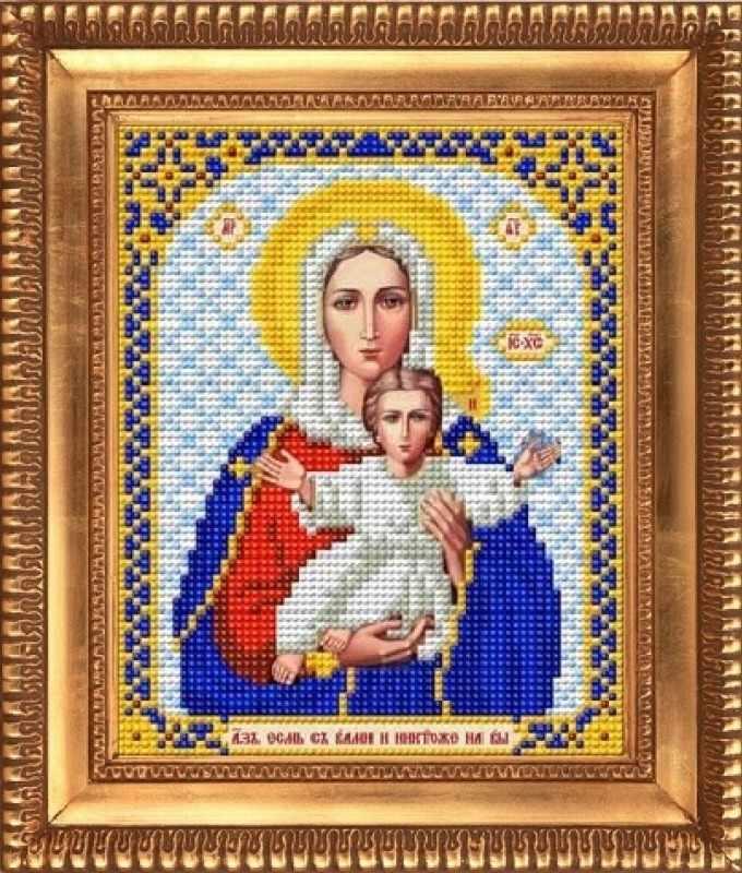 """И-5019  """"Богородица Леушинская"""" - рисунок на ткани"""