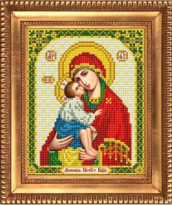 """И-5055  """"Пресвятая Богородица Донская"""" - рисунок на ткани"""