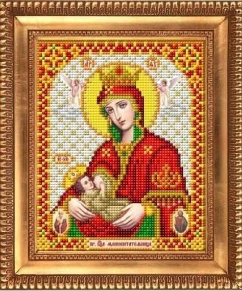 """И-5076  """"Пресвятая Богородица Млекопитательница"""" - рисунок на ткани"""