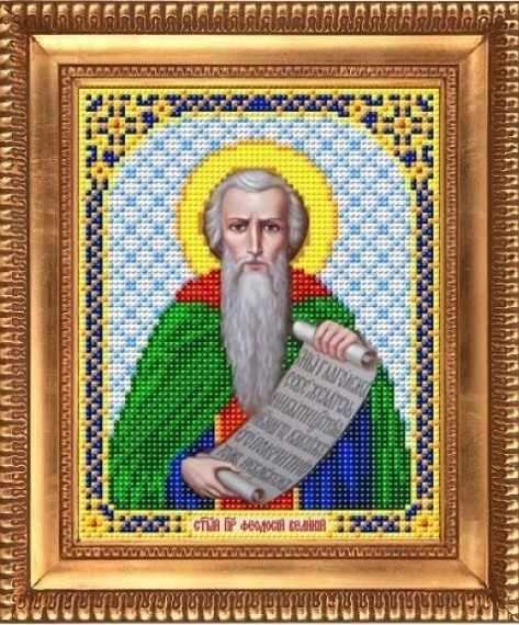 """И-5132  """"Святой Преподобный Феодосий Великий"""" - рисунок на ткани"""