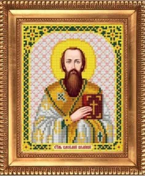 "И-5176 ""Святой мученик Василий"" - рисунок на ткани"