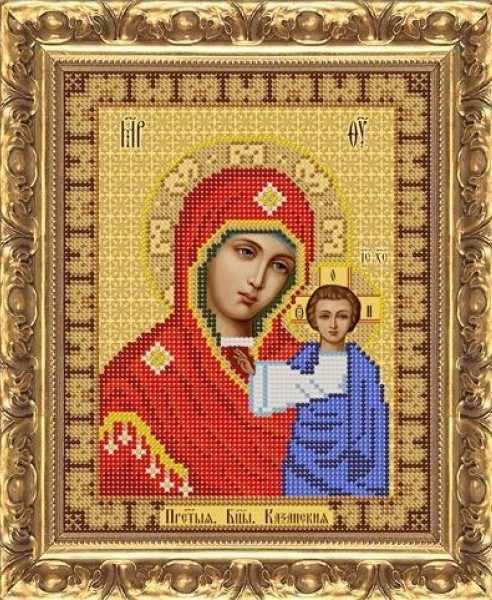ИП-109 Казанская икона Божией Матери (триптих) - схема (Велисса)