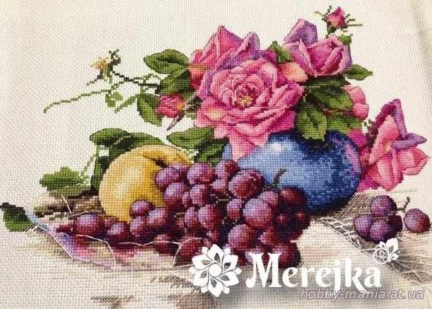 К-20 Натюрморт с виноградом (Мережка)