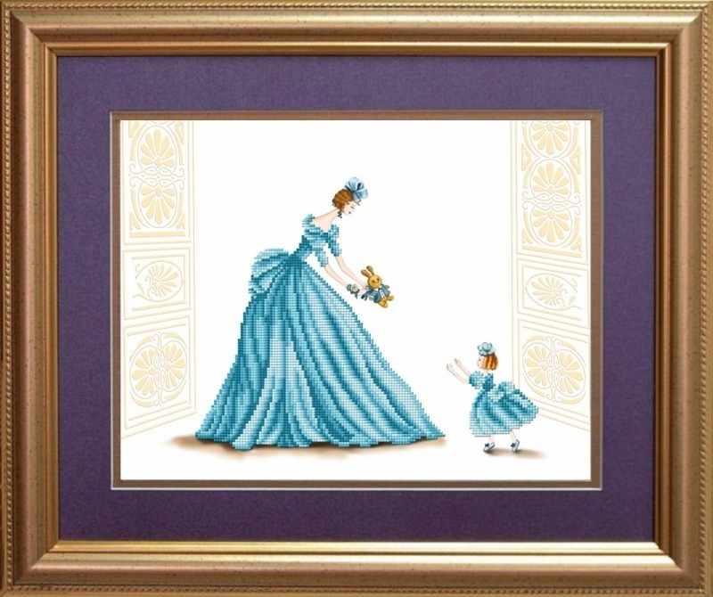 """К-3031 """"Маленькая принцесса"""" - рисунок на ткани"""