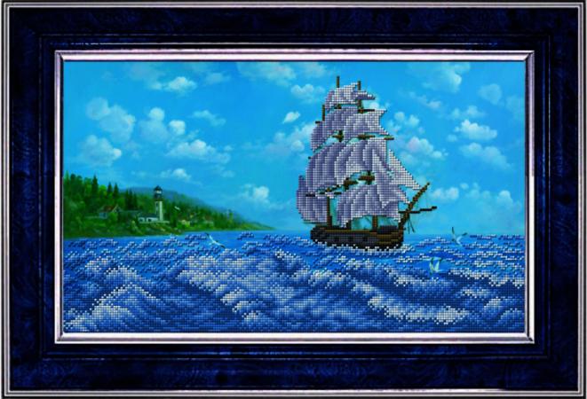 """К-3032 """"У райских берегов"""" - рисунок на ткани"""