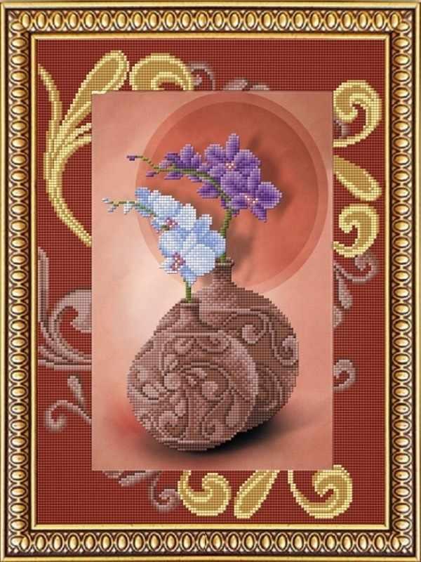 """К-3043 """"Орхидеи"""" - рисунок на ткани"""