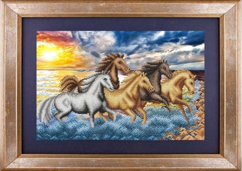 """К-3045 """"На берегу океана"""" - рисунок на ткани"""