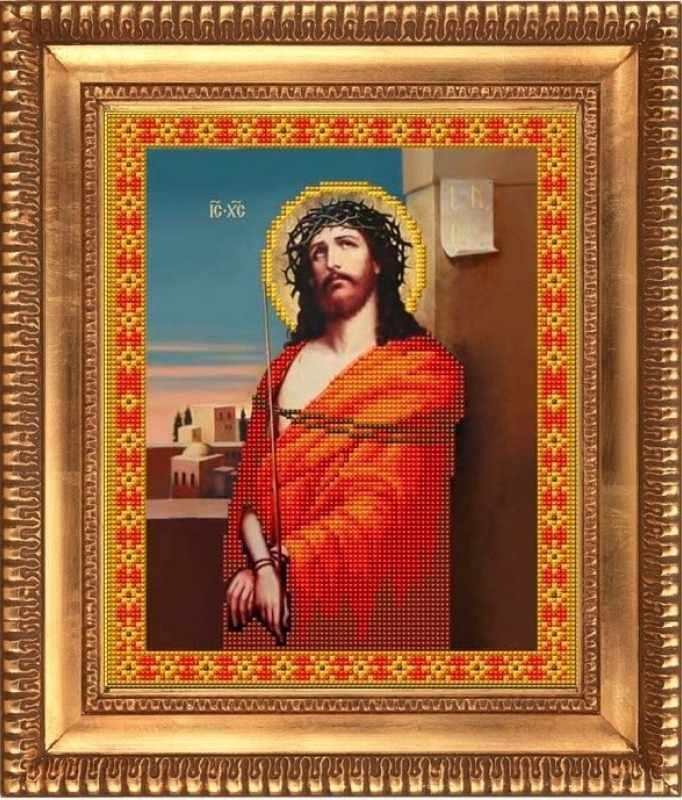"""К-4003 """"Иисус в терновом венце"""" - рисунок на ткани"""