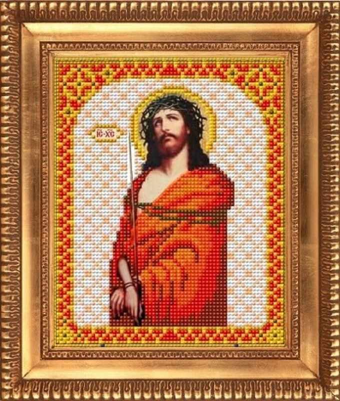 """К-5003 """"Иисус в терновом венце"""" - рисунок на ткани"""
