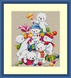 К-55 Рождественские мишки (Мережка)