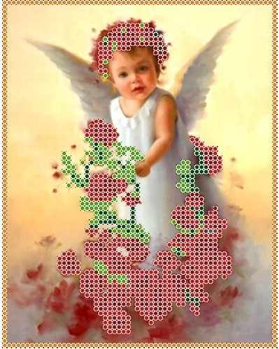 КБА 5003 Ангел в розах - набор (Каролинка)