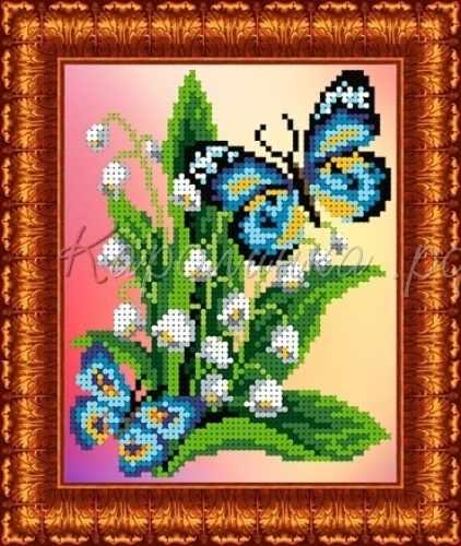 КББН(ч) 5003 Бабочка на ландышах - набор (Каролинка)