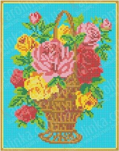 КБЦ 4016 Корзина с розами (Каролинка)