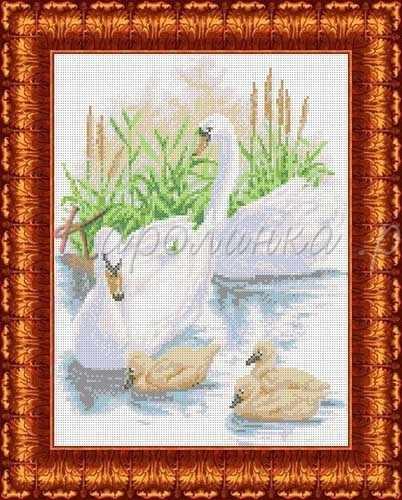 КБЖ 3023 Лебединое семейство (Каролинка)