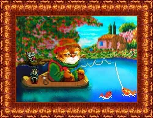 КБЖ 4006 Кот на рыбалке (Каролинка)