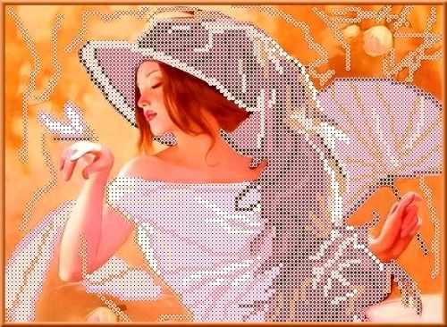 КБЛ 4002 Девушка с веером (Каролинка)