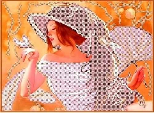 КБЛ 4002 Девушка с веером - набор (Каролинка)