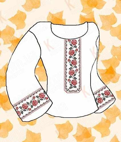 КБС/а/-12 Заготовка для сорочки на атласе (Каролинка)