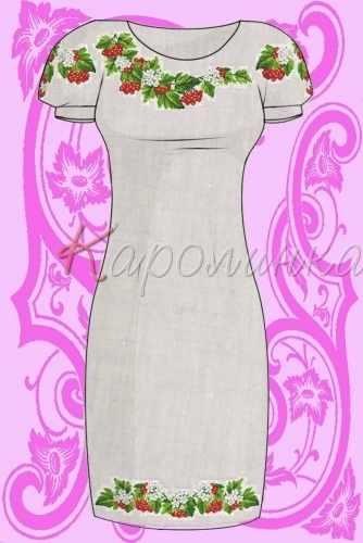 КБС/пл/-01 Заготовка для вышивки платья (Каролинка)